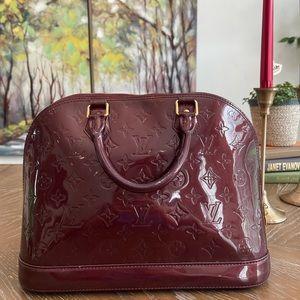 Louis Vuitton HandBag M91691 Alma PM Purple Vernis